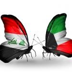 iraqi flag and kuwait flag